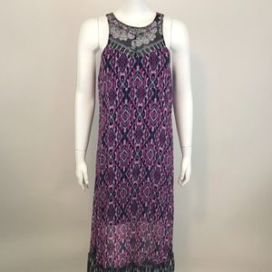 Express Sleeveless Maxi Dress Purple M